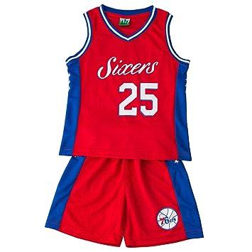 Jersey de baloncesto para niños Jefferson # 25 Philadelphia 76ers ...