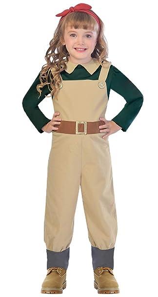 Amazon.com: Disfraz militar de guerra para niñas de 5 a 12 ...
