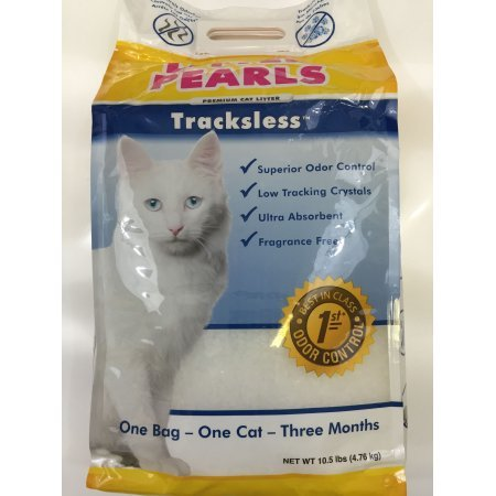 Litter Pearls 10.5 LB Bag Trackless, Fragrance Free Cat litter