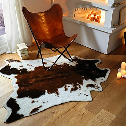 yuye-xthriv Carpet Cow Animal Print Carpet Chair Throw Rug Anti-Slip Living Room Lounge Mat Decor Extra Soft and Absorbent Floor Mat for Bathroom, Living Room, Bedroom and Laundry Room Decor (Animal Print Bathroom Decorating Ideas)