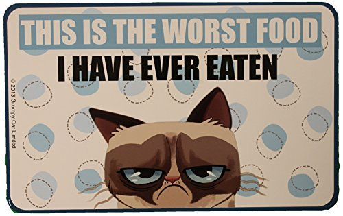 Grumpy Cat Officially Licensed Pet Food Mat or Decorative Place Mat