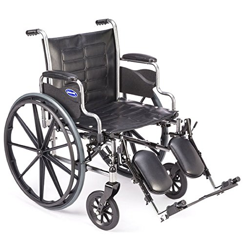 Invacare - Tracer EX2 - Manual Wheelchair - Removable Desk-Length Armrest with Elevating Legrest - 18