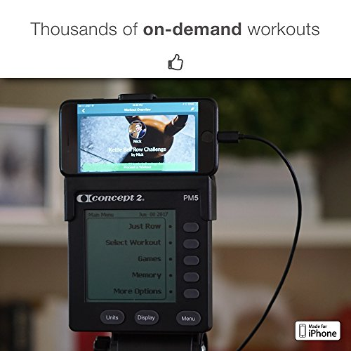 Live Rowing Concept 2 Connector for Smartphones Rowing Machine Accessories for Your PM3, PM4, PM5 Erg Machine Plus FREE LiveRowing App (CRADLE NOT INCLUDED)