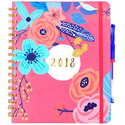 Planner 2018 & 6 Color Pens ~ Purse-Size 9