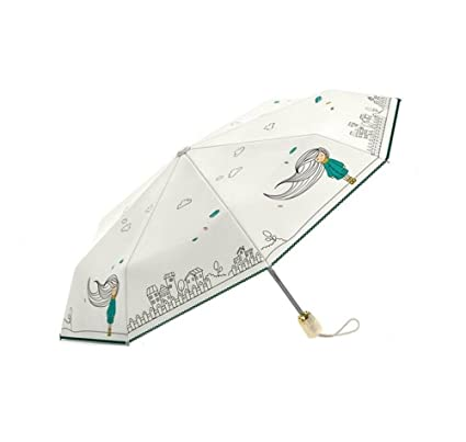 OLYCAT New Brand Quality Folding Full Automatic Women Umbrella Sun Rain Windproof Anti UV Paraguas Girls