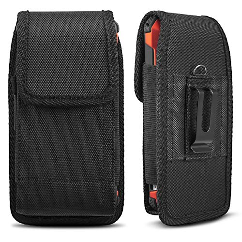 (Universal Case for iPhone 8 7 Plus Pouch Case, iNNEXT Vertical Holster Belt Clip Carrying Case Pouch for iPhone X iPhone Xs iPhone XR iPhone 6 Plus/iPhone 6S Plus/iPhone 7 Plus 5.5 inch (Black))
