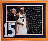 Jim Boeheim Recruiting Carmelo Story Photo with Carmelo Anthony Signed White #5 Jersey Number Collage