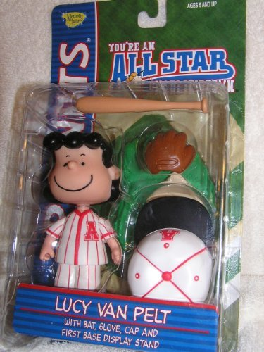 Peanuts Lucy Van Pelt Baseball Figure with Accessories - Red Uniform