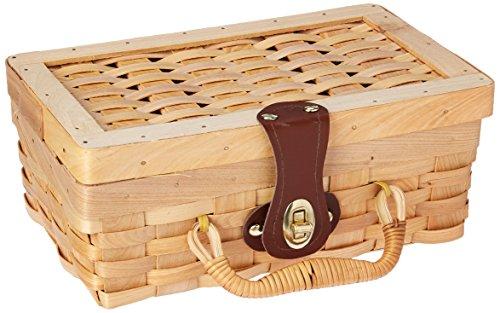 Vintiquewise(TM) Small Woodchip Picnic Basket, Child's Private Picnic Basket by Vintiquewise
