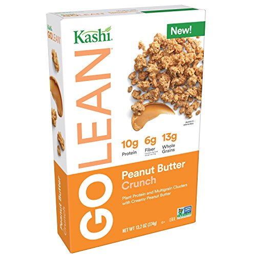 Kashi GOLEAN, Breakfast Cereal, Peanut Butter Crunch, Non-GMO Project Verified, 13.2 oz (Peanut Butter Kashi)