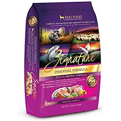 Zignature Zssentials Formula Dry Dog Food 27 Pound Bag, (Turkey, Duck, Lamb and Salmon)