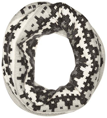 Sofia Cashmere Women's 100 Percent Cashmere Graphic Fairisle Snood, Grey Combo, One by Sofia Cashmere