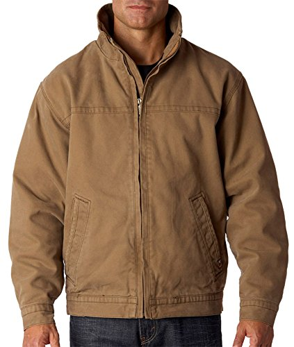 - Dri Duck Adult Quarry-Washed Soft Lining Canvas Jacket, Field Khaki, Medium