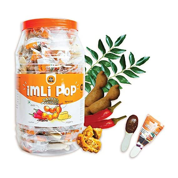 GO DESi Imli Pop Tamarind & Jaggery Candy (100 Piece), 900 g