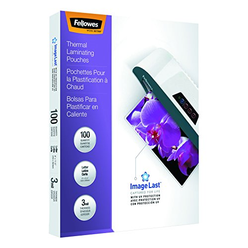 Fellowes 52454 ImageLast Laminating Pouches with UV Protection, 3mil, 11 1/2 x 9 (Pack of 100)
