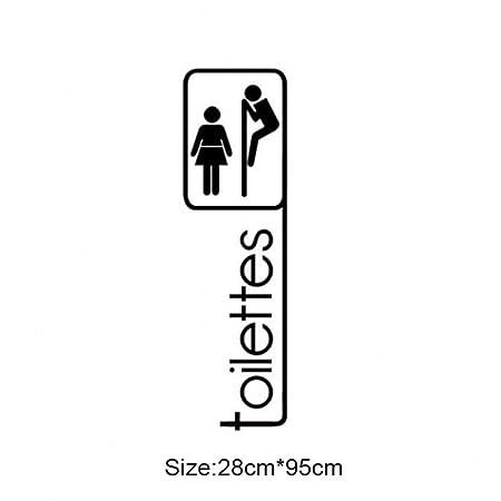 Dergtgh Toilettes de Dibujo Comedor Línea Sofá Pegatinas de ...
