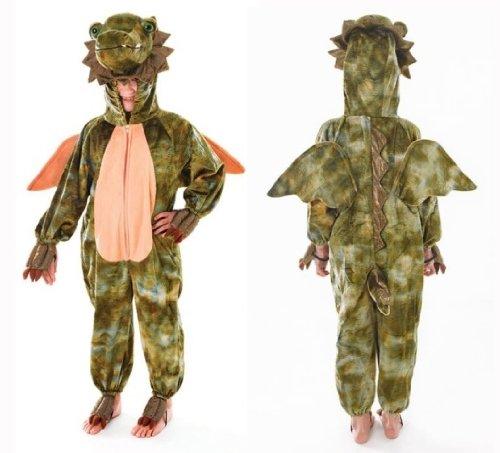 Deluxe Dragon Childs Fancy Dress Costume - Size M (Women's Dragon Costume Uk)