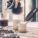 MOUDERIQ Battery Handheld Coffee Frother Wand