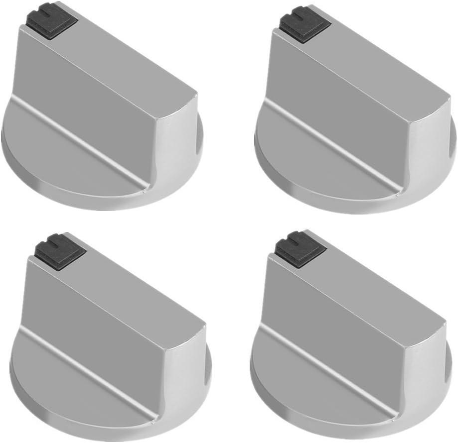 Manija de cocina universal de 6 mmdealeacióndezinc para estufa,mango de cocina,interrupor de cocina,control de superficie(4 unidades)