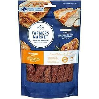 Farmers Market Pet Food Premium Natural Grain-Free Jerky Dog Treats, 7 Oz Bag, Chicken Recipe With Rosemary Flavor