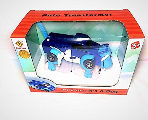 Dog Car Transformer - Auto Shape Shifting Wind-Up Toys - Ldeal Gift for Preschooler , Little Boys , Little Girls ( BLUE )