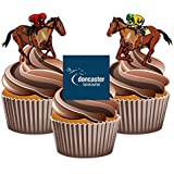 Horse Racing Doncaster Mix - Edible Stand-up Cupcake Toppers by AKGifts