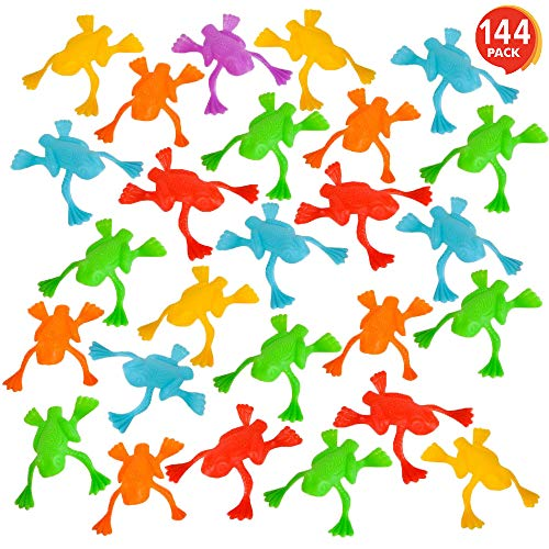 ArtCreativity Jump n Leap Frog Toys - Pack of 144 - Cool Jumping Frogs for Kids - Vibrant Color Variety - Fun Party Favors, Goody Bag Fillers, Contest Prizes for Girls and Boys