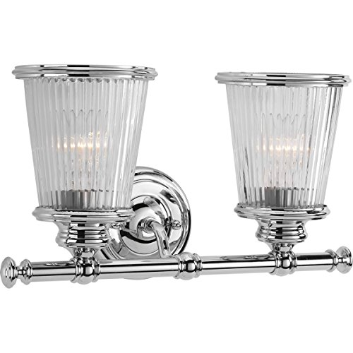 Polished Chrome Traditional Wall (Progress Lighting P2170-15 Traditional/Classic 2-100W Med Bath Bracket, Polished Chrome)