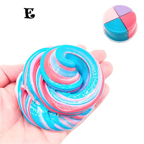 Theshy Beautiful Color Mixing Cloud Slime DIY Putty Scented Stress Kids Clay Toy Putty Mud DIY Stress Relief Toys Kids Adult for $<!--$1.94-->