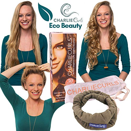 CharlieCurls: On The Go, One-Piece, Easiest ever No Heat Hair Curler (Mocha (Box))