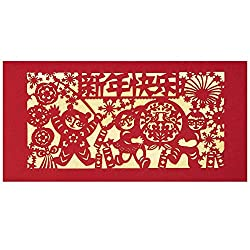 ThxToms Original Paper Cut Design Red Envelopes for Chinese New Year Gifts, 8 Envelopes - 4 Designs from ThxToms