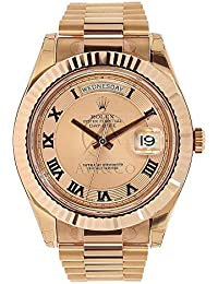 f170d372445be Day-Date II Champagne Dial Automatic 18kt Rose Gold President Mens Watch  218235CRP