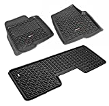 Rugged Ridge All-Terrain 82989.21 Black Front and Rear Floor Liner Kit For 2009-2014 Ford F-150 Supercrew Models