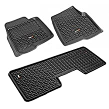 Rugged Ridge 82989.21 Black 1st and 2nd Row All Terrain Floor Liner Kit for Ford F-150