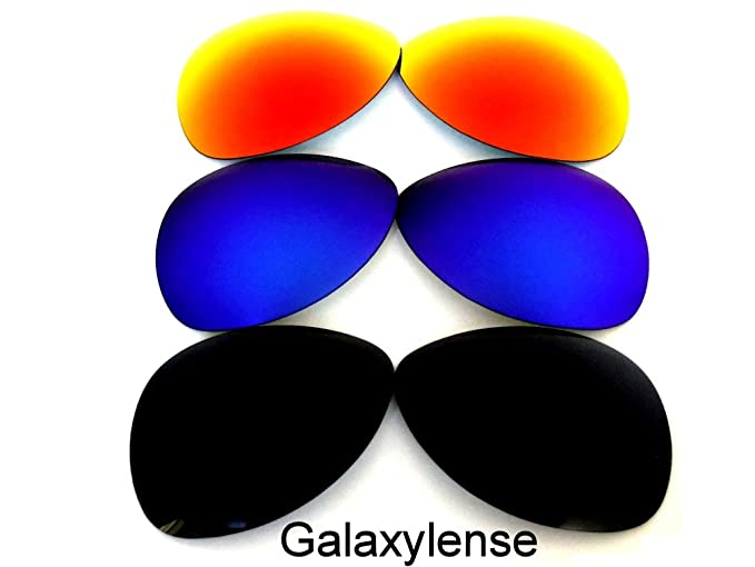 Galaxylense Lentes de reemplazo para Oakley Plaintiff Polarizados para hombre o mujer Demandante Negro y Azul