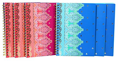 studio-c-personal-notebooks-taj-mahal-collection-assorted-colors-6-pack-31333