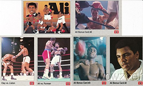 Vintage Boxing Memorabilia - Muhammad Ali Vintage 1991 All Word Boxing Set of SIX(6) Different Cards in MINT Condition! Rare Tough to find Officially Licensed Cards of the GREATEST highlighting his Legendary Career!