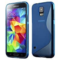 Samsung Galaxy S5 Slim TPU Gel Case - Blue