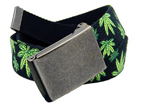 (Boys School Uniform Distressed Silver Flip Top Military Belt Buckle with Canvas Web Belt Medium Mary Jane Print)