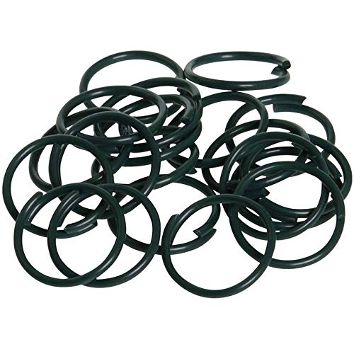 150Pcs Plastic Coated Plant Rings Twisty Plant Support Clips for Flowers Stem Vine Support KINGLAKE