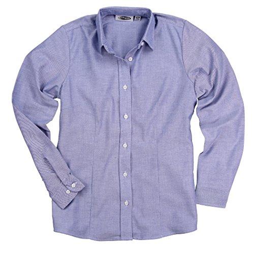 - Edwards Women's Long Sleeve Point Collar Work Shirt Blouse (True Blue, X-Small)