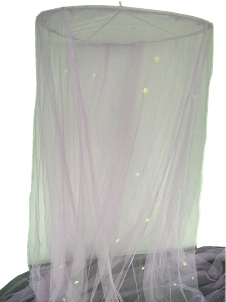 Mosquito Nets with Lights LYH Bed Canopy Mosquito Net Netting (Purple2)