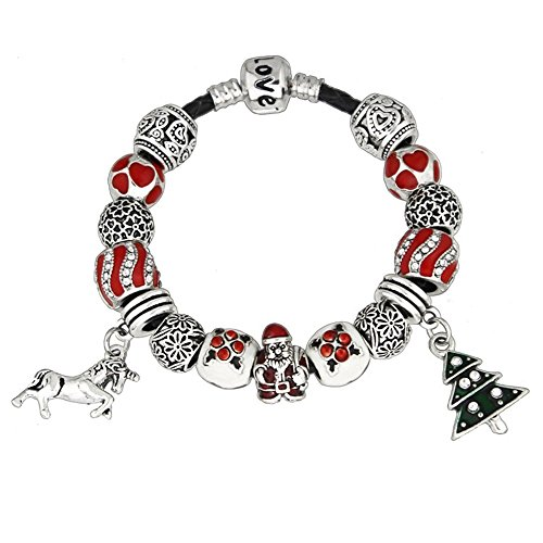 YYcharm Santa Claus charm bracelet.