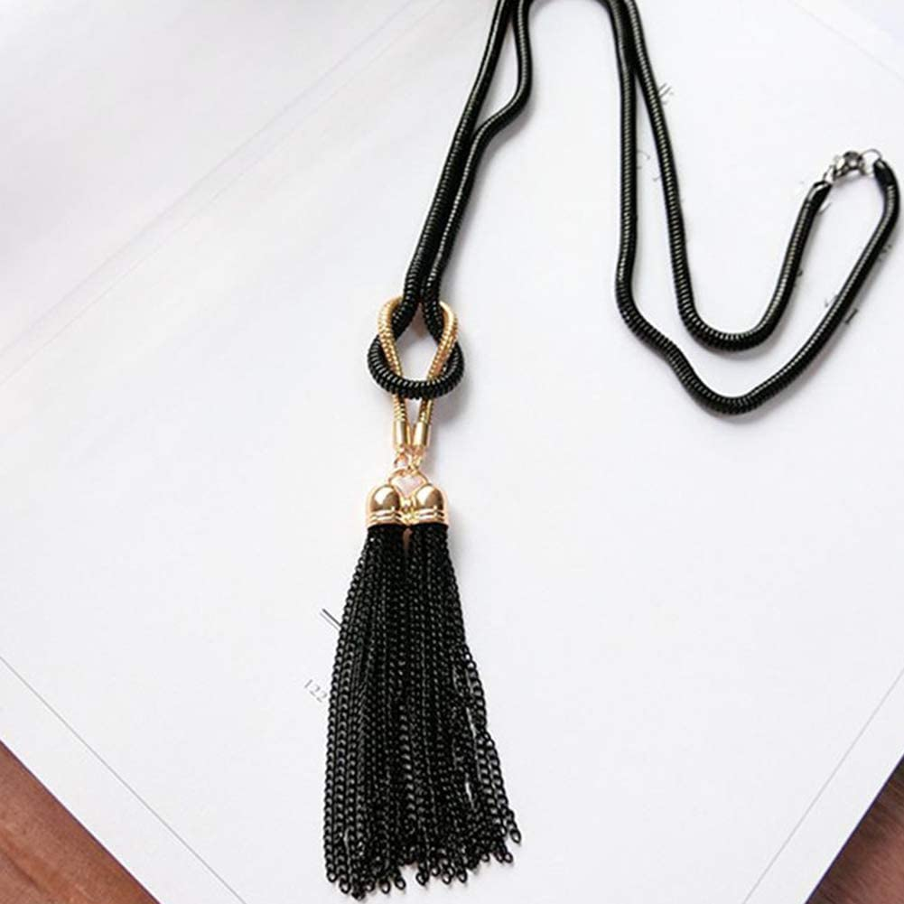 Gift for Women Kids Child Necklace adonpshy Valentines Day Wedding Anniversary Jewelry Party Women Fashion Tassel Pendant Long Chain Necklace Jewelry Gift