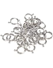 20 stks vintage handgemaakte toggle gesp, antiek zilver legering ring toggle sluiting ketting armband diy sieraden bevindingen maken accessoire