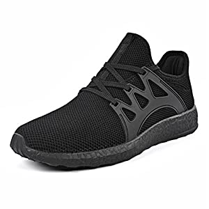 QANSI Men's Fashion Fly Knittted Sports Sneakers Flexible Athletic Casual Shoes