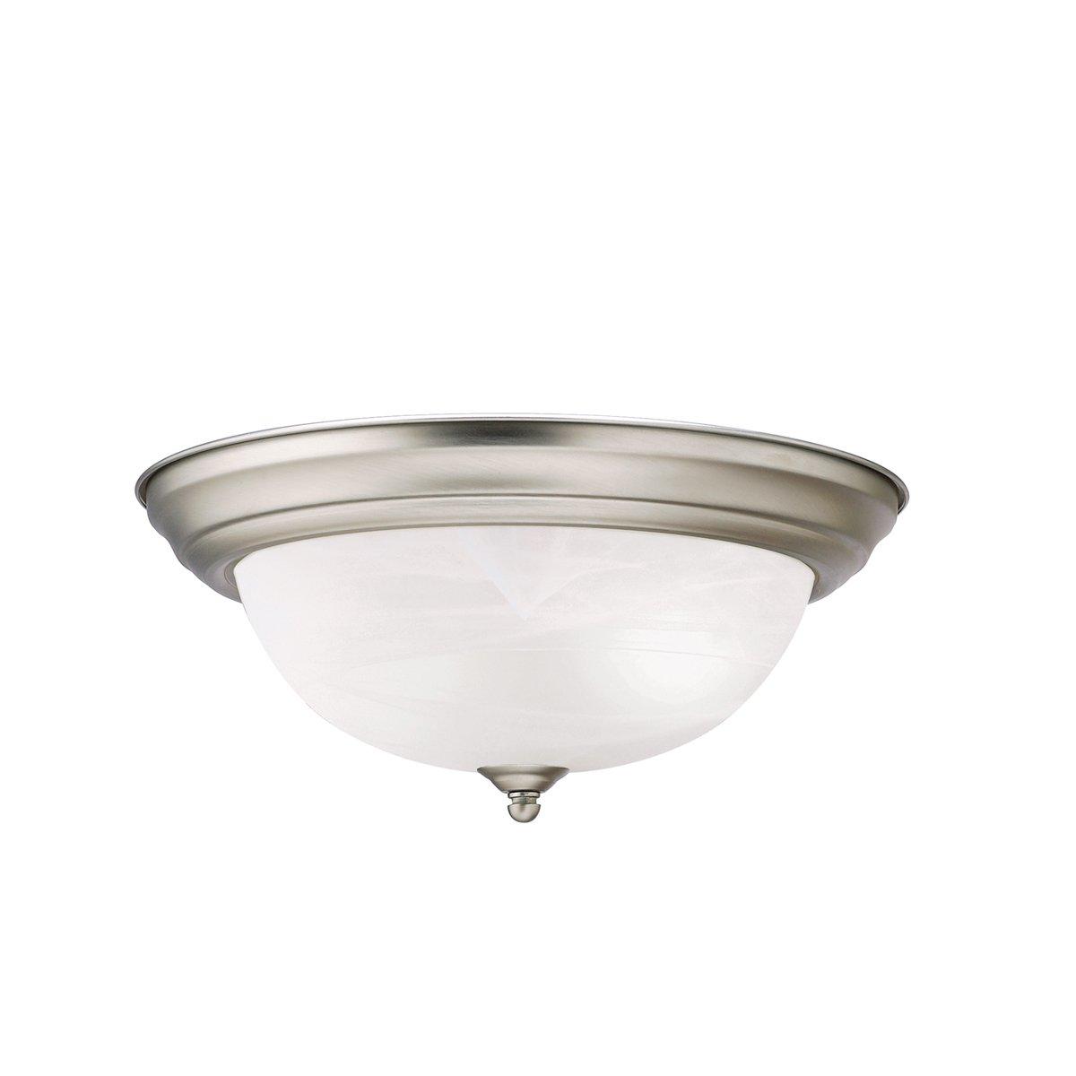 Kichler 8109NI Flush Mount 2-Light, Brushed Nickel