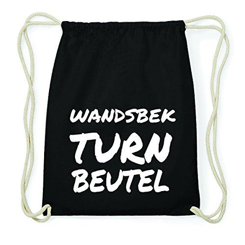 JOllify WANDSBEK Hipster Turnbeutel Tasche Rucksack aus Baumwolle - Farbe: schwarz Design: Turnbeutel Z8gRXc7F7