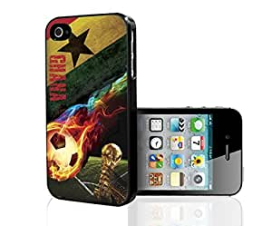 Red, Yellow, Green Ghana Flag with Black Star Hard Snap on Phone Case (iPhone 4/4s)