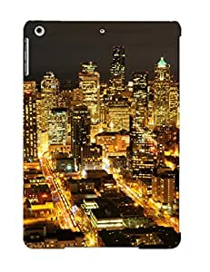 Crooningrose F47b9193562 Case For Ipad Air With Nice Seale Washinn Usa Americanight Skyline Cityscapes Architecture Buildings Skyscrapers Lights Appearance